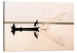 Canvas print  Fisherman on the Taungthaman lake - Lee Frost