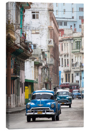 Canvas print  Taxis in Avenue Colon, Cuba - Lee Frost