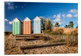 Acrylic print  Colorful beach huts in Brittany (France) - Christian Müringer