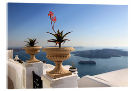 Acrylic print  Balcony in Greece - Hans-Peter Merten