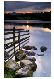 Canvas print  Loughrigg Tarn in England - Jeremy Lightfoot