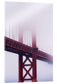 Acrylic glass  Golden Gate Bridge in fog, San Francisco - Jean Brooks