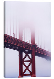 Canvas print  Golden Gate Bridge in the fog - Jean Brooks