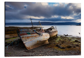 Aluminium print  Old fishing boats in Salen, Isle of Mull - Patrick Dieudonne