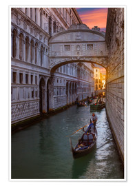 Premium poster Bridge of Sighs in Venice