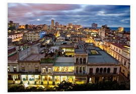 Foam board print  View over Havana - Lee Frost