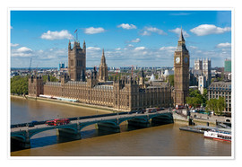 Premium poster  Westminster Bridge with Houses of Parliament - Walter Rawlings