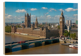 Wood print  Westminster Bridge with Houses of Parliament - Walter Rawlings