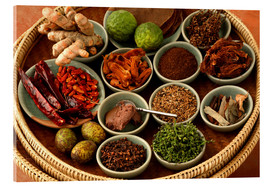 Acrylic print  Spices from the Thai cuisine - Luca Tettoni