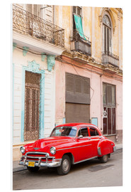 Foam board print  Restored American car, Havana - Lee Frost