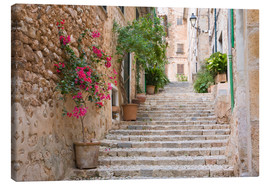 Canvas print  Gasse in Fornalutx, Mallorca - Ruth Tomlinson