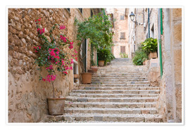 Premium poster  Gasse in Fornalutx, Mallorca - Ruth Tomlinson