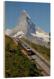 Wood print  Excursion to the Matterhorn - Hans-Peter Merten