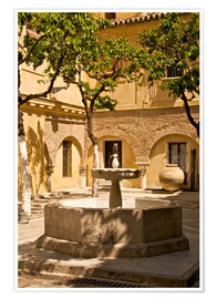 Premium poster  Terrace with fountain in Seville - Guy Thouvenin