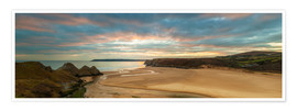 Premium poster  Three Cliffs Bay, Gower - Billy Stock