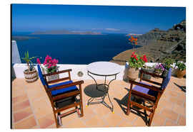 Aluminium print  Fira, island of Santorini (Thira), Cyclades Islands, Aegean, Greek Islands, Greece, Europe - Sergio Pitamitz