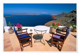 Premium poster  Fira, island of Santorini (Thira), Cyclades Islands, Aegean, Greek Islands, Greece, Europe - Sergio Pitamitz
