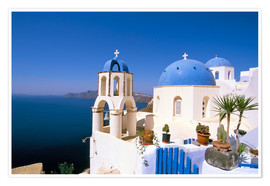 Premium poster Oia (Ia), island of Santorini (Thira), Cyclades Islands, Aegean, Greek Islands, Greece, Europe