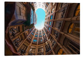 Aluminium print  Interior of La Pedrera - James Emmerson