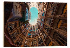 Wood print  Interior of La Pedrera - James Emmerson