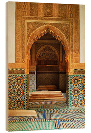Wood print  Saadian Tombs in Medina - Jochen Schlenker
