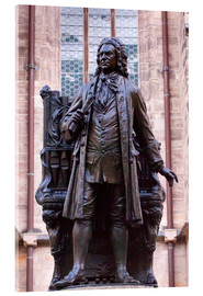 Acrylic print  Statue of Bach, Leipzig - Michael Snell