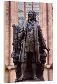 Wood print  Statue of Bach, Leipzig - Michael Snell