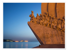 Premium poster  Monument to Discoveries, Belem, Lisbon, Portugal, Europe - Angelo Cavalli