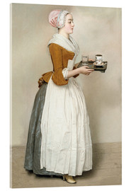 Acrylic glass  The Chocolate Girl - Jean Etienne Liotard