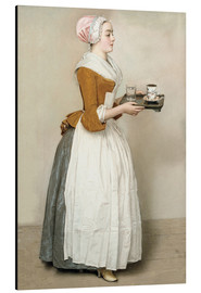 Aluminium print  The Chocolate Girl - Jean Etienne Liotard