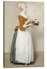 Canvas print  The Chocolate Girl - Jean Etienne Liotard