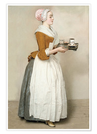 Premium poster  The Chocolate Girl - Jean Etienne Liotard