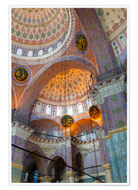 Premium poster  Yeni Mosque, Eminonu and Bazaar District, Istanbul, Turkey, Europe - Richard Cummins