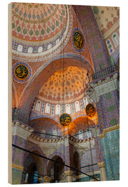 Wood print  Yeni Mosque, Eminonu and Bazaar District, Istanbul, Turkey, Europe - Richard Cummins
