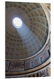 Foam board print  A shaft of light through the dome of the Pantheon, UNESCO World Heritage Site, Rome, Lazio, Italy, E - Martin Child