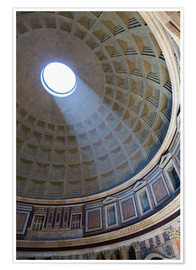 Premium poster  A shaft of light through the dome of the Pantheon, UNESCO World Heritage Site, Rome, Lazio, Italy, E - Martin Child