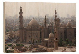 Wood print  Mosque of Sultan Hassan in Cairo old town, Cairo, Egypt, North Africa, Africa - Martin Child