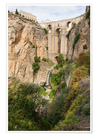 Premium poster  Puente Nuevo (New Bridge) over the El Tajo gorge of the River Guadalevin, Ronda, Andalucia, Spain, E - Giles Bracher