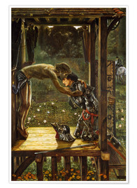 Premium poster  The Merciful Knight - Edward Burne-Jones
