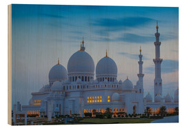 Wood print  Sheikh Zayed Grand Mosque - Jane Sweeney