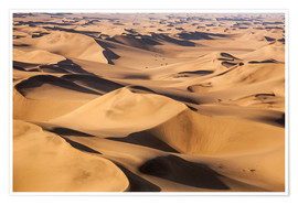Premium poster  Aerial view of the dunes of the Namib Desert, Namibia, Africa - Roberto Moiola