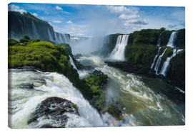 Canvas print  Foz de Iguazu (Iguacu Falls), the largest waterfalls in the world, Iguacu National Park, UNESCO Worl - Michael Runkel