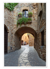 Premium poster  Alley in Pals, Catalonia - Stuart Black