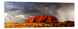 Foam board print  Uluru (Ayers Rock), Uluru-Kata Tjuta National Park, UNESCO World Heritage Site, Northern Territory, - Giles Bracher