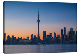 Canvas print  View of CN Tower and city skyline, Toronto, Ontario, Canada, North America - Jane Sweeney