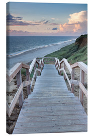 Canvas  Stairs down to the beach, Sylt - Markus Lange