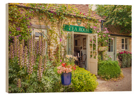 Wood print  Typical English Tea Room in Wiltshire (England) - Christian Müringer