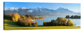 Canvas print  Lake Forggensee and the Alps - Markus Lange