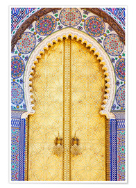 Premium poster Royal Palace Door, Fez