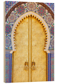 Wood print  Royal Palace Door, Fez - Douglas Pearson